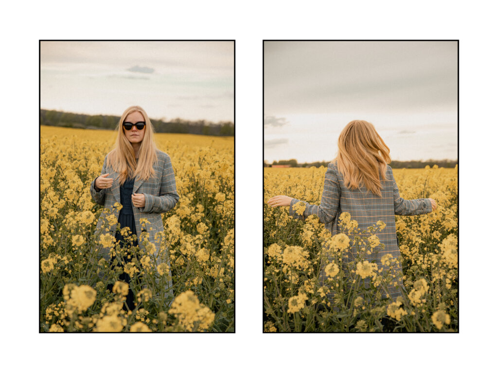 Checkered coats in fields of gold